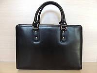 Деловая сумка женская, кожаная, красная, черная. Италия Черный