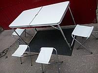 Стол-чемодан+четыре стула,материал фибролит,Производитель Китай.