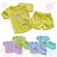 Детский трикотажный комплект на лето, шорты и футболка