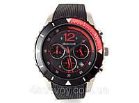 Часы мужские Alberto Kavalli в стиле Ferrari, черные с красным, встроен секундомер