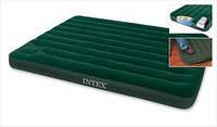 Надувной матрас Intex 152*191*22 встроенный ножной насос (66929)
