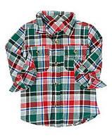 Фланелевая рубашка. 6-12, 12-18 месяцев