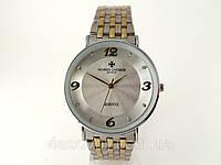 Мужские часы Vacheron Constantin кварцевые, цвет корпуса серебро, серебристый циферблат