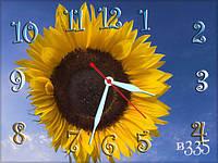 Часы- картина, цветы, прикольные 30х40 для кухни, гостиной, детской, спальни. Подарок