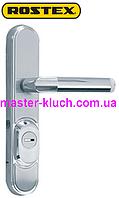 ROSTEX® Decor (4-го класса безопасности) R-4 (нажимная),R-1 (не поворотная)  матовый хром