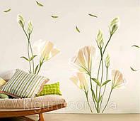 Декоративная наклейка на стену лилии
