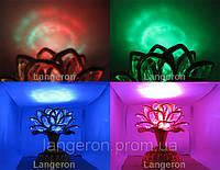 Музыкальный Лотос цветок c музыкой сувенир подарок проектор северное сияние ночник