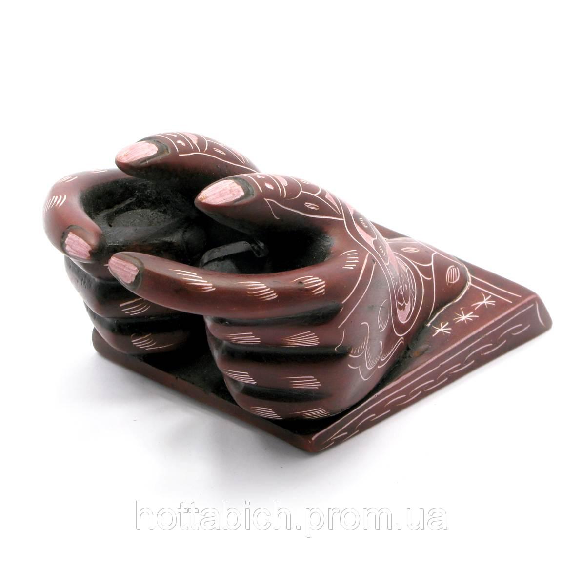 Подставка под визитки настольная Руки