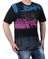 Стильная мужская футболка большого размера 2XL-5XL черная