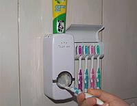 Вакуумный автоматический дозатор зубной пасты вместе с держателем щетки