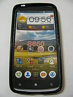 Чехол силиконовый + защитная плёнка для телефона смартфона Lenovo S650 чёрный