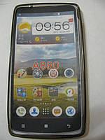 Чехол силиконовый + защитная плёнка для телефона смартфона Lenovo A880