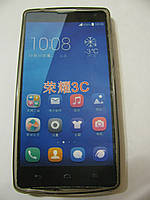Чехол силиконовый + защитная плёнка для телефона смартфона Huawei 3C