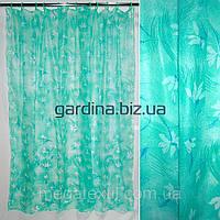 Шторка для ванной и душа ( штора занавеска миранда) зеленая с цветами 182х182