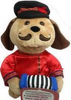 Мягкая механическая игрушка пес барбос, танцует и поет песню никто тебя не любит так как я