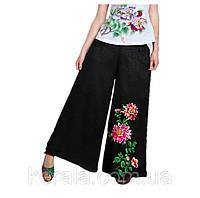 Свободные женские брюки с вышивкой