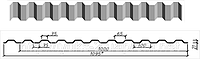 Профнастил в полимерном покрытии С-20