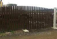 Ворота из металлического штакетника