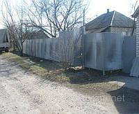 Забор из плоского шифера с установкой
