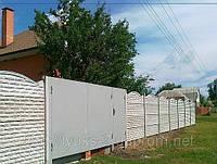 Ворота въездные 2мм со столбами