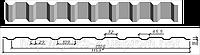 Профнастил оцинкованный С-18, 0,4мм