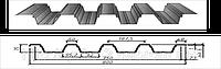 Профнастил оцинкованный Н-60, 0,5мм