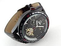 Мужские часы Omega chronometer, механика с автозаводом, цвет корпуса и циферблата черный, индикация день/ночь