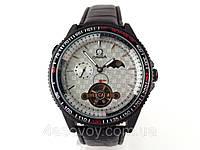Мужские часы Omega chronometer, механика с автозаводом, корпуса черный, циферблат серебристый, инд. день/ночь