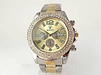 Женские часы ROLEX -  металлический браслет, цвет корпуса серебристый.