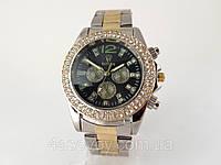 Женские часы ROLEX -  металлический браслет, черный циферблат