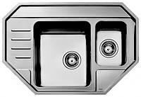 Мойка кухонная из нержавеющей стали Тека  STAGE 60 E полированная (1,0мм)