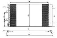 Радиатор кондиционера на на Рено Мастер III 2.3dCi (c 2010 г.в.) Valeo (Франция) 814179