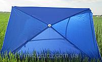 Зонт торговый  2х3 м прямоугольный синий, зеленый