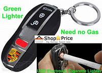 USB электронная зажигалка с зарядкой брелок