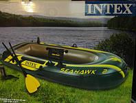 Надувная лодка Intex 68347 насос+весла ,Seahawk-2