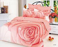 Красивое постельное белье с большой розой