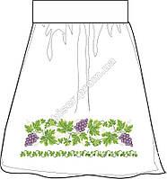 Заготовка женской юбки бисером на льне СПЖБ-4