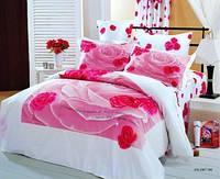 Постельное белье Le Vele семейное Розы на белом