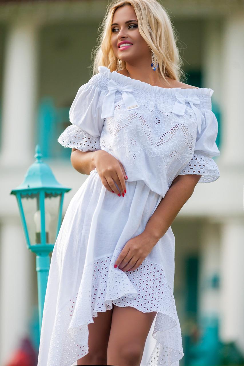 Платье туника с перфорацией доставка