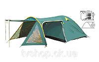 Палатка 4-х местная FRT-207-4 (100+120+210)*240*130см (полиэстер 190T, дно PU 1000мм, с тентом)