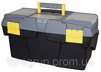 """Ящик для инструмента """"Mega Cantilever"""" пластмассовый с 2-мя консольными лотками и 2-мя органайзерами 1-92-039."""