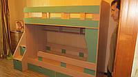 Двухъярусная кровать модерн с боковой лестницей