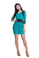 Платье со стрейчевый гипюром с цветным напылением, фото 1