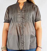 Блуза женская угольная, большой размер, 54-64 р-ры