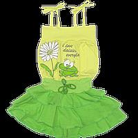 Сарафан летний для девочки, ТМ Финтекс, тонкий хлопок р. 86, 92, 98, 104