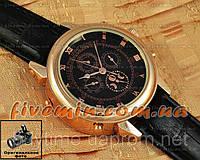 Мужские наручные часы Patek Philippe Sky Moon Tourbillon Gold Black отличное качество Патек Филип