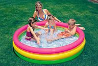 Детский бассейн Intex 57412 с надувным дном 114х25см для детей от 3 лет