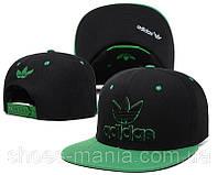 Кепка с прямым козырьком Adidas Snapback green-black