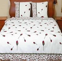 Бежевое постельное белье ТЕП в бутоны роз