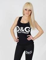 Майка борцовка женская логотип D&G